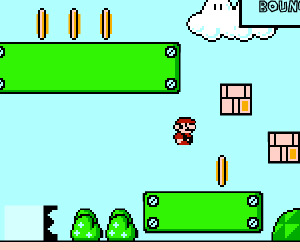 Mario in Super Bounce game