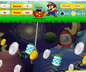 Play gold miner mario online free