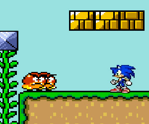 Sonic in Mario Planet game